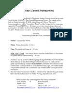 parade info sheet