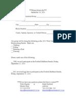parade registration form