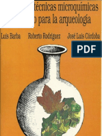 (Barba Et Al, 1991) Manual de Tecnicas Microquimicas de Campo Para Arqueologia