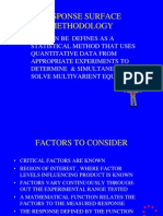 Response surface methodology