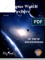 DoJMA's Campus Watch Archive - Vol 1, Aug '13
