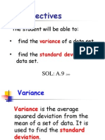 Standard Deviation and Mean-Variance