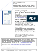 Simulating Memory Outcome Before Right Selective Amygdalohippocampectomy