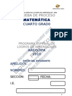 MATEMATICA 4to