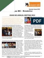 Asian MS Newsletter Summer Issue, 2012
