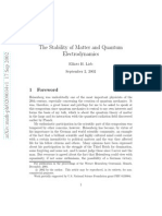 The Stability of Matter and Quantum Electrodynamics