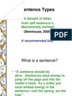 Sentence Types From Mechanically Inclined