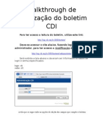 Walkthrough de atualização do boletim CDI