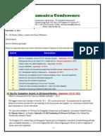 Communication Advisory for Sep 7 - 2013