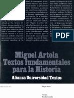 Artola, Miguel - Textos Fundamentales Para La Historia
