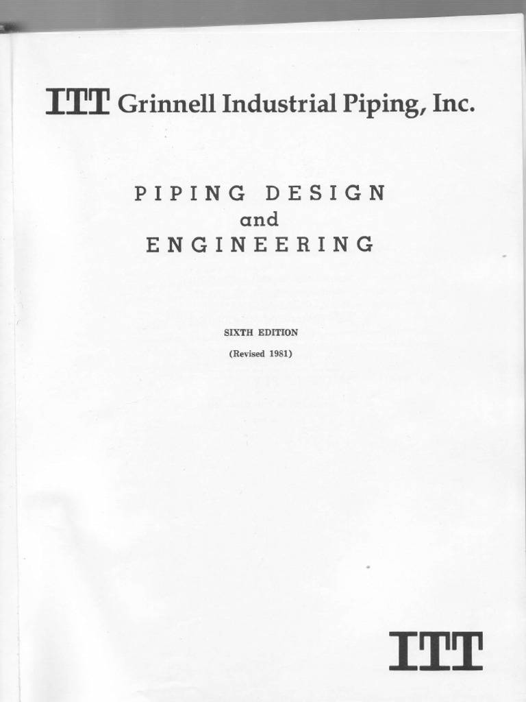 Itt Grinell Pdf Pipe Fluid Conveyance Mechanical Engineering