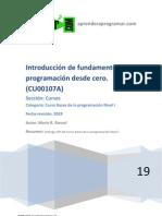 CU00107A Introduccion Fundamentos Bases Programacion Curso Desde Cero