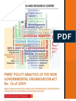 PMRC Policy Analysis of the Non Governmental Organisation Act No. 16 of 2009