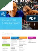 Microsoft 2012 Citizenship Report