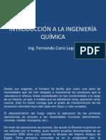 INTRODUCCION A LA INGENIERÍA QUIMICA CLASE 1