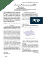 Circular Patch Antenna Performance using EBGStructure
