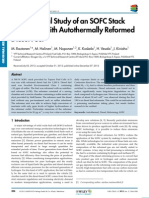 Experimental Study of an SOFC Stack OperatedWith Autothermally Reformed Diesel Fuel