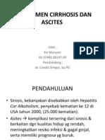 Manajemen Cirrhosis Dan Ascites