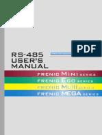 RS 485 User Manual for FRENIC Mini Eco Multi MEGA