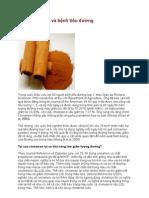 Bột vỏ cây quế và bệnh tiểu đường