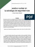 El Imperativo Nuclear en La Estrategia de Seguridad Rusa