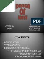 DESIGN OF KEYS