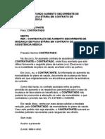 CARTA CONTESTANDO AUMENTO DECORRENTE DE MUDANÇA DE FAIXA ETÁRIA EM CONTRATO DE ASSISTÊNCIA MÉDICA