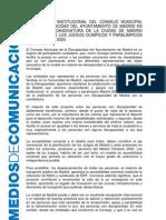 Declaracion Institucional Madrid 2020