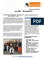 Asian MS Newsletter Autumn Issue, 2011