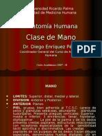 5ta Clase Miembro Superior - Mano - Dr. Enriquez