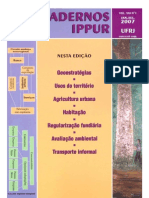 32Cadernos IPPUR - Ano XXI, n1, Jan-jul 2007