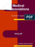 Medical Abbreviation Quizz