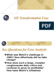 GE Case Analysis