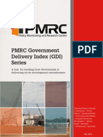 PMRC GDI Series - A Tool for Tracking How Government is Delivering on Its Development Commitments