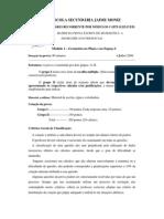 Matriz de Matemática, Módulo 1, Julho 2009