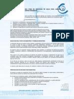 RECOMENDACIONES PARA TOMA DE MUESTRAS DE AGUA PARA ANALISIS DE RESIDUOS DE CONTAMINANTES ORGÁNICOS