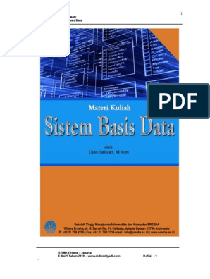 Contoh Soal Normalisasi Basis Data Dan Jawabannya Pdf ...