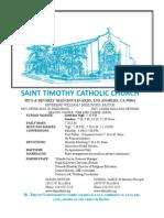St. Timothy L.A. June 21 Bulletin.