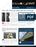 Sound Technology Ltd Installed Audio Newsletter - Summer 2013