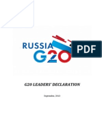 Russia G20 Leader's Declaration