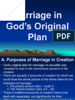 Marriage in God's Original Plan