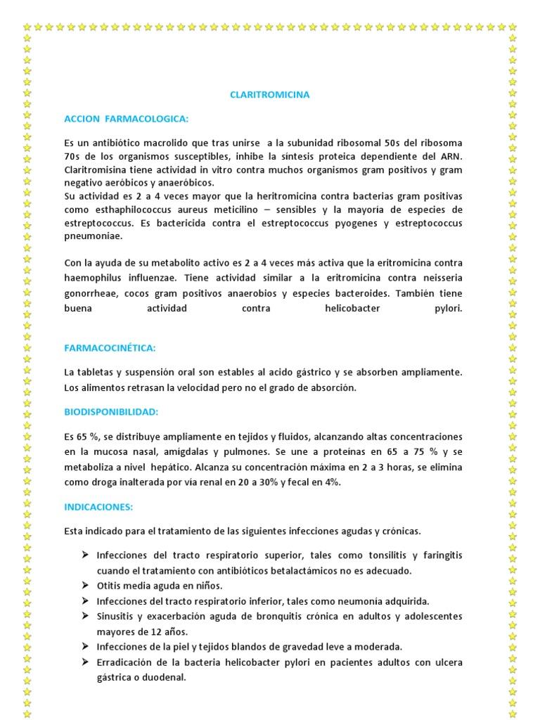 Claritromicina Docx Rtt Farmacologia