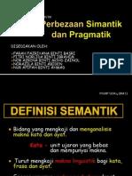Perbezaan Simantik Dan Pragmatik