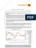 Purchasing Managers' Index - Services August 2013