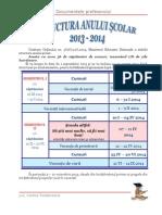 Structura an Scolar Calendar 2013 2014