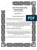 Sehari-Hari Bersama Rasulullan Edisi Ke-048, 24 Dzulqaidah 1433 H