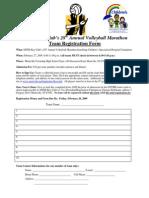 VBM Registration Form 2009