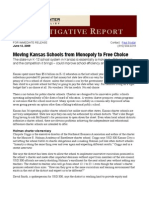 Moving Kansas Schools From Monopoly to Free Choice - Paul Soutar, Flint Hills Center
