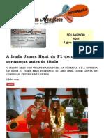 A lenda James Hunt da F1 dormiu com 33 aeromoças antes de título