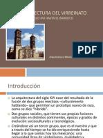 Arquitectura Del Virreinato Siglo XVI Hasta El Barroco